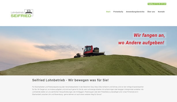 Webdesign Homepage Bad Waldsee