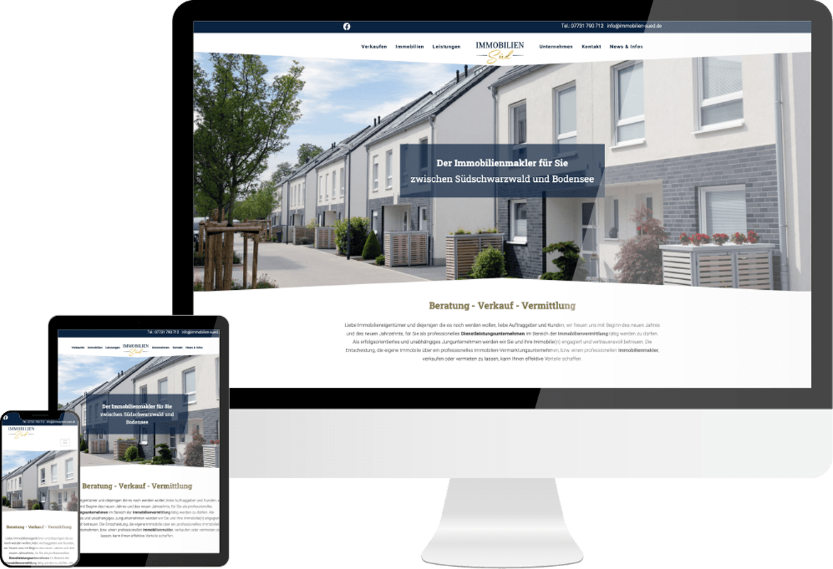 Webdesign Immobilien Sued