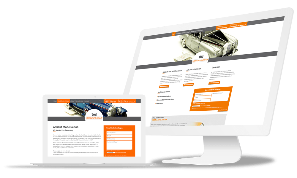 Webdesign Modellauto Ankauf